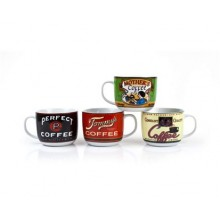 BANQUET Polievkový hrnček Retro Coffee assorted 60JG1724