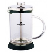 BLAUMANN French Press Kanvička na čaj a kávu 350 ml, čierna BL-1441
