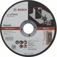 BOSCH Best for Inox Rapido Long Life Deliaci kotúč rovný, 125 mm, 1,0 mm 2608602221