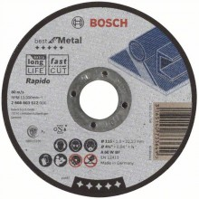 BOSCH Best for Metal - Rapido Deliaci kotúč rovný, 115 x 22,23 x 1,0 mm 2608603512