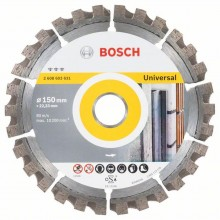 BOSCH Diamantový deliaci kotúč Best for Universal, 150mm 2608603631