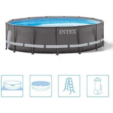 INTEX ULTRA FRAME POOL 4,88 x 1,22 m s filtračnou pumpou (12V) 26322GN