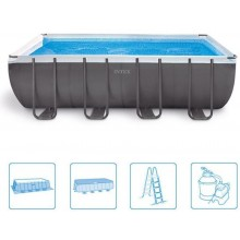 INTEX ULTRA FRAME RECTANGULAR POOL 7,32 x 3,66 x 1,32 m (set) 26366NP