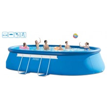 INTEX Bazén Oval Frame Pool Set 3,66 x 6,10 x 1,22 m, 28194GN