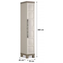 KIS EXCELLENCE HIGH 1 DOOR skriňa 33x45x182cm béžová