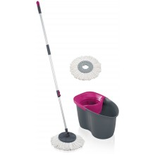 LEIFHEIT Set CLEAN TWIST Disc Mop Active grey pink 55267