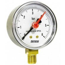 Manometer 0-6 bar spodný D63