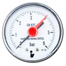 Manometer 0-6 bar spodný D 50