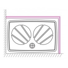 RAVAK GIGANT PRO Panel 120x90 SET R white XA83GP71010