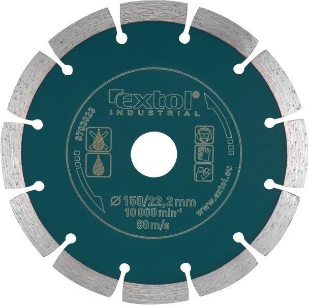 EXTOL INDUSTRIAL kotúč diamantový rezný - segmentový GRAB CUT - suché rezanie 230x22, 2mm