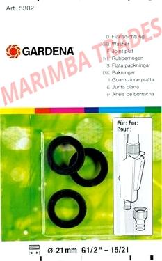 GARDENA plochej tesnenie (3 ks) 5301-20